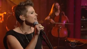 Just Posted: Natalie Maines on Letterman