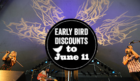 Early Bird tickets on sale now!